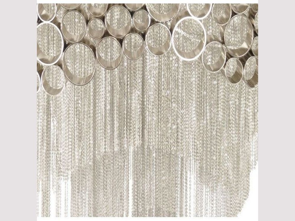 Silver chains chandelier bubbles chandelier venus bubbles and chains nickel chandelier aloadofball Gallery